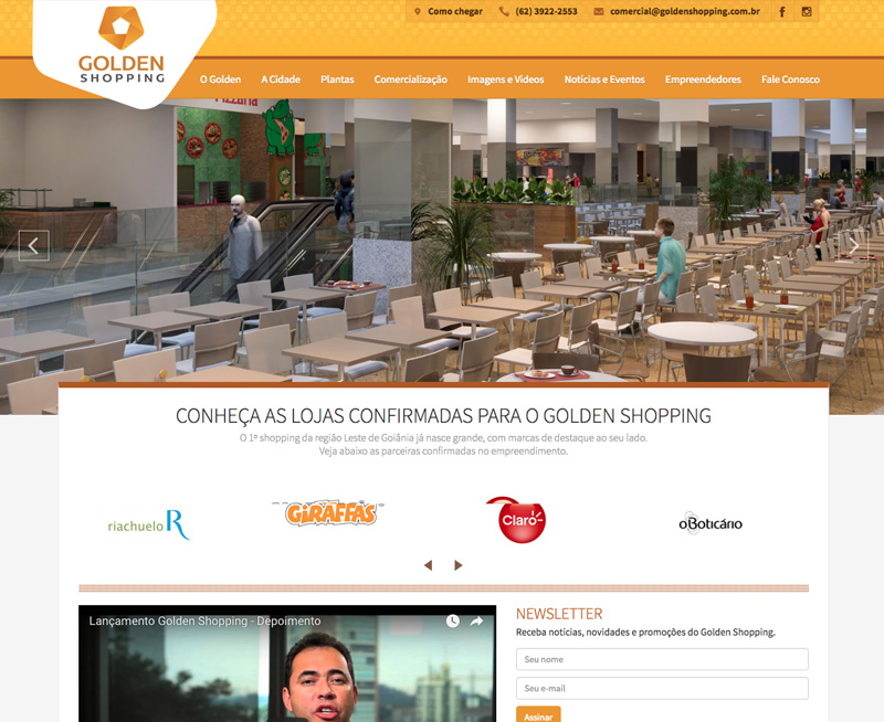 Criação de Sites - Golden Shopping