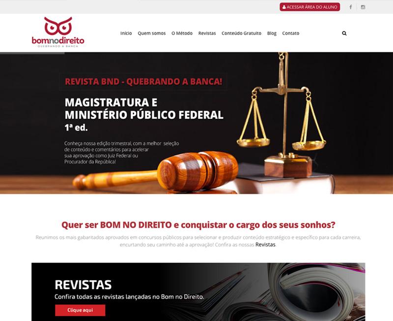 Desenvolvimento Ecommerce Plataforma EAD Bom no Direito