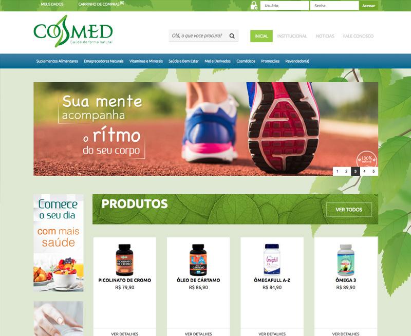 Desenvolvimento de Ecommerce Cosmed