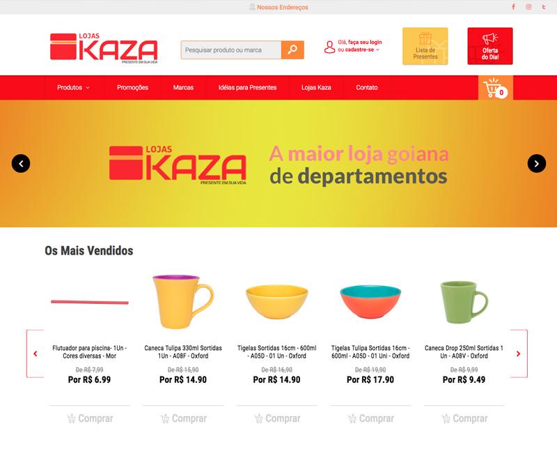 Desenvolvimento de Ecommerce Lojas Kaza